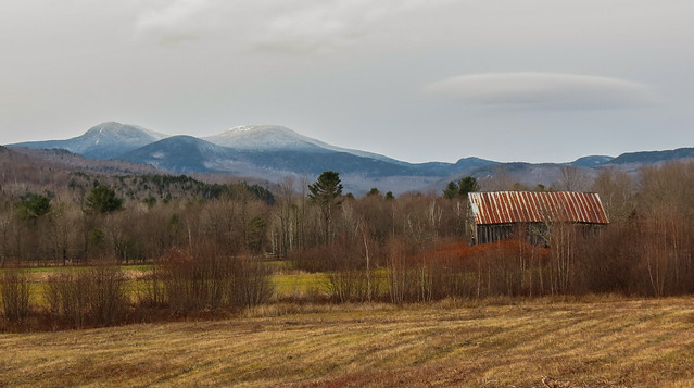 In the mountains of  western Maine