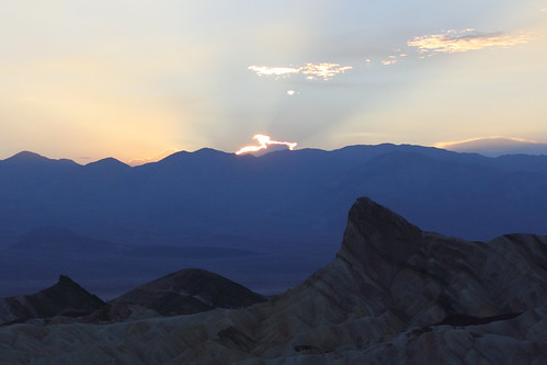 Death Valley sunset at Zabriskie point