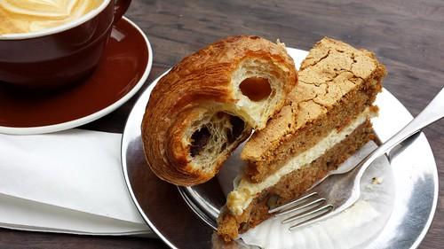 Bourke Street Bakery: Carrot Cake, Pain Au Chocolat, Flat White