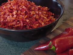 sweet pepper processing
