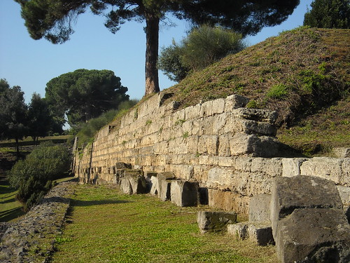 Boundary walls (4th-3rd century BC) out of Nuceria gate at Pompeii