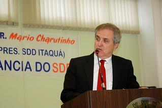 O ex-prefeito Mário Moreno, representando o deputado Luiz Carlos Gondim
