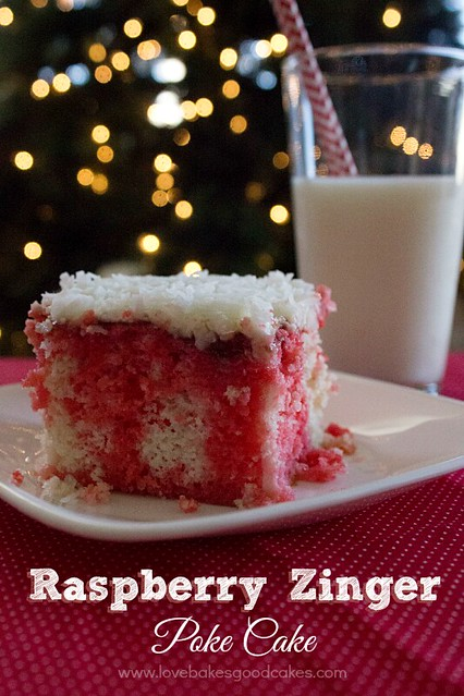 Raspberry Zinger Poke Cake 2