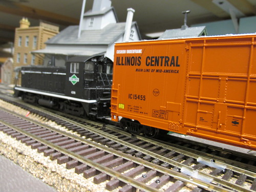 An early 1970's era Illinois Central Gulf switching local passes by. by Eddie from Chicago