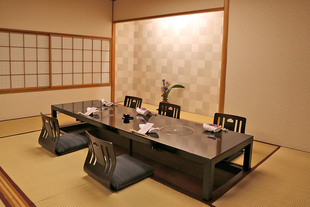 This is the private dining room at Musashino