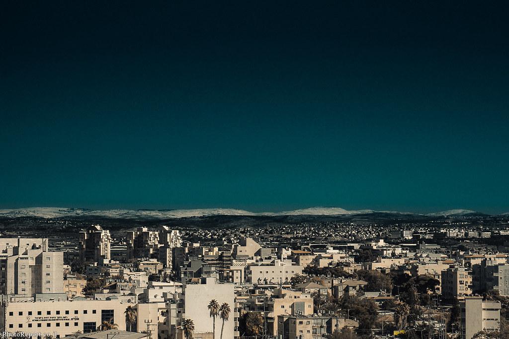 שלג על הרי יהודה והשומרון