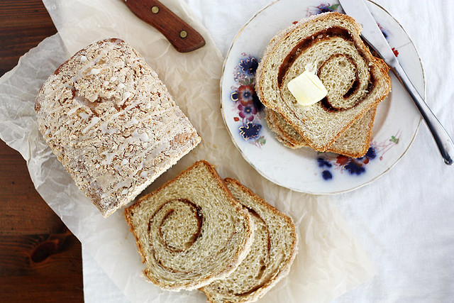 eggnog cinnamon swirl bread