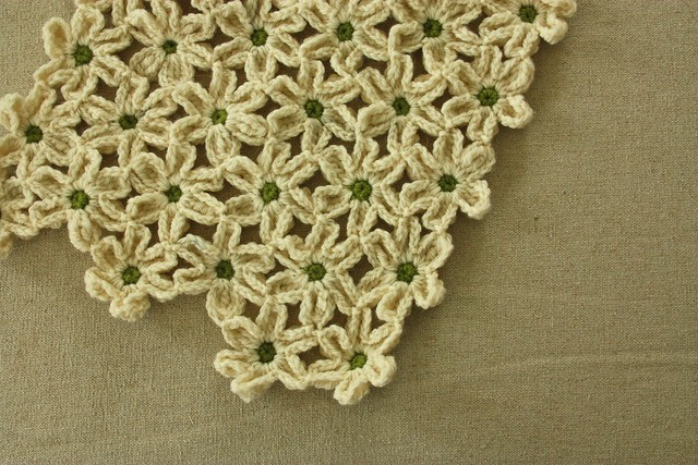 Field of Daisies Afghan WIP side 1