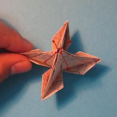 วิธีการพับกระดาษเป็นดาวสี่แฉก 020