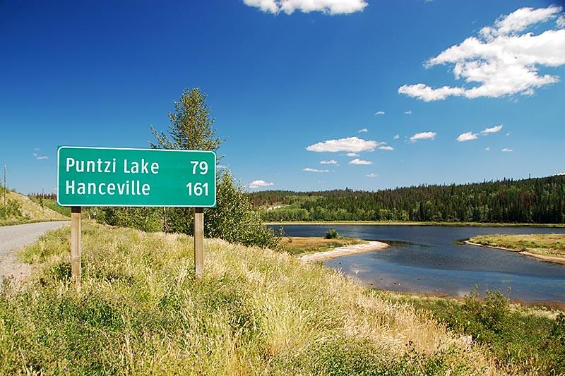 Highway 20 at Kleena Kleene, Chilcotin, British Columbia