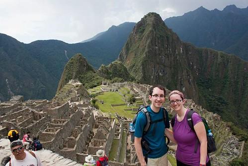 overlooking Machu Picchu