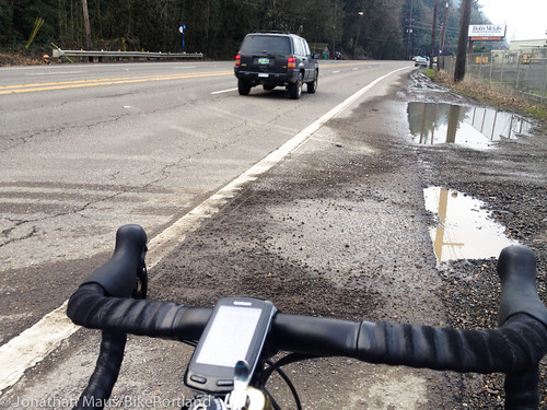 Bike lane conditions Hwy 30-St Helens Rd-1
