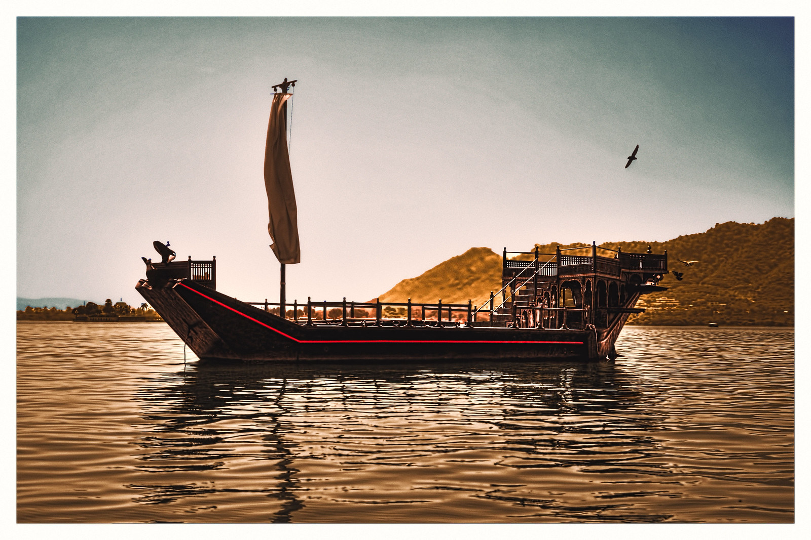 Udaipur IND - Photochrom Lake Pichola