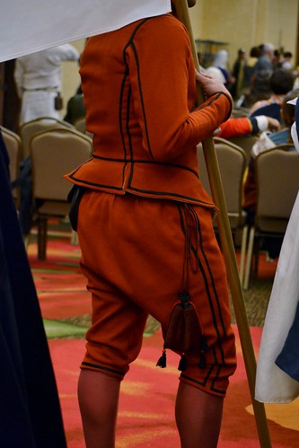 Male Back, Red Men's Outfit, from 1560's Italy, based heavily on Moroni portraits on MorganDonner.com