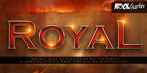 FREE Royal Text Effect