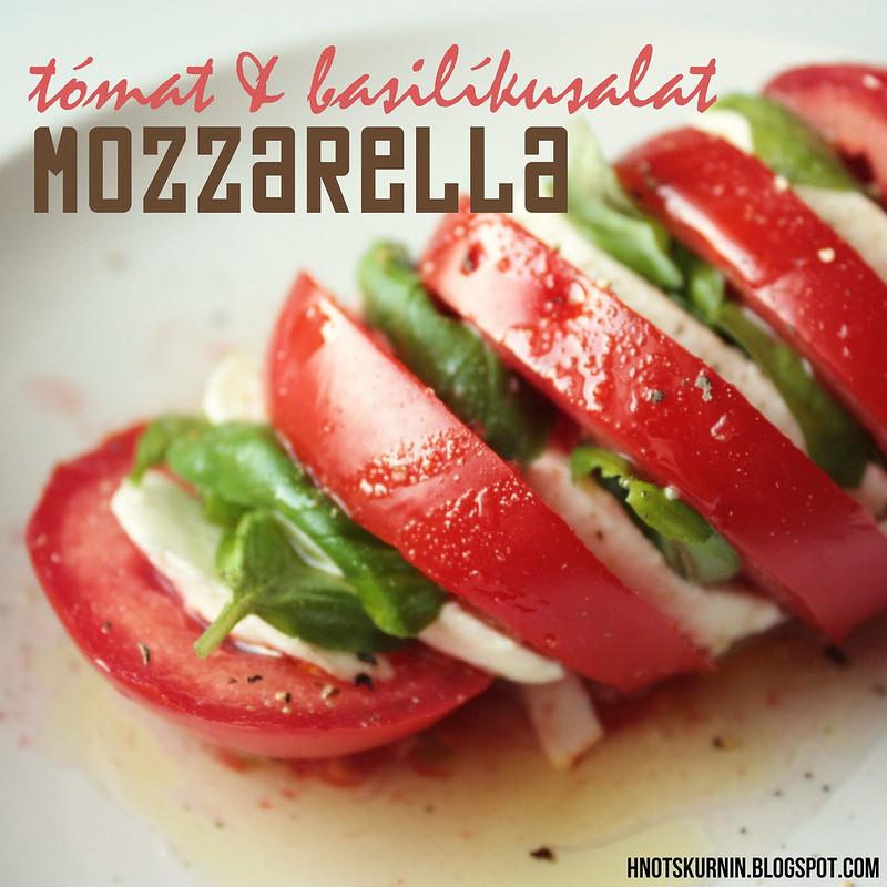 Tómat-mozzarella-basilíkusalat