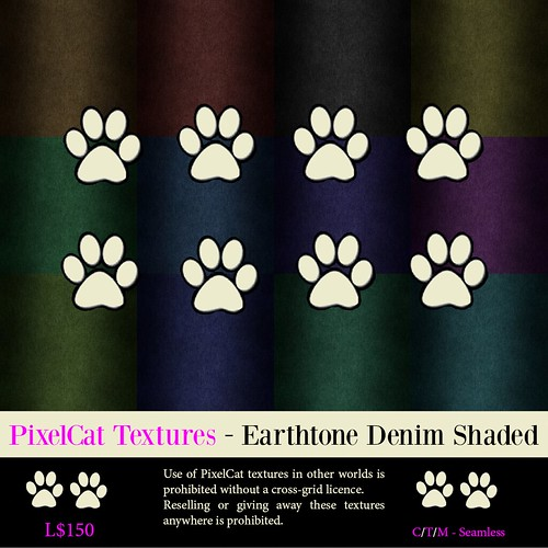 PixelCat Textures - Earthtone Denim Shaded