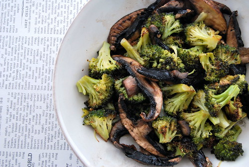 Roasted Broccoli and Portobellos with Soy Dressing-001