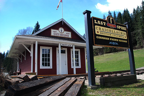 Last Spike at Craigellachie, Eagle Pass, Kootenays, British Columbia, Canada
