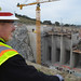 Students tour Folsom Dam auxiliary spillway construction during Engineer Week, 2014