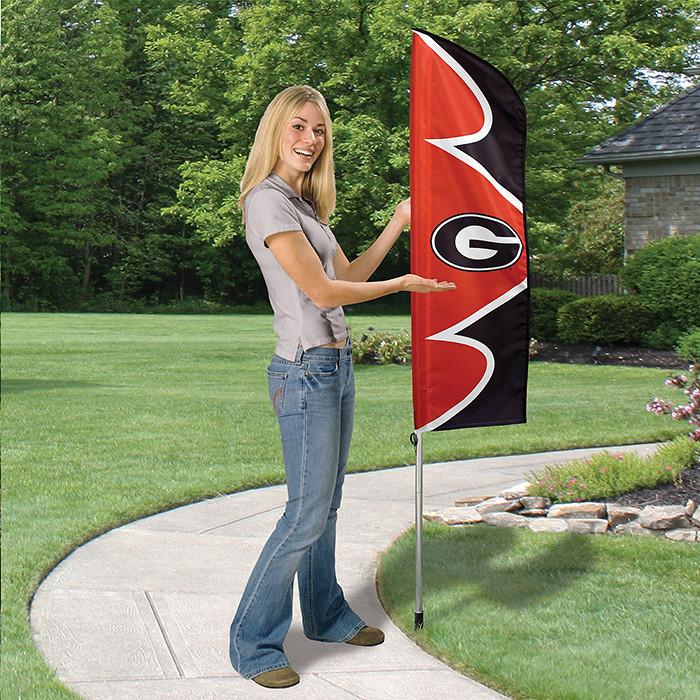 Georgia Short Feather Flag