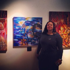 me and my work last night at @my ch_rmc gallery