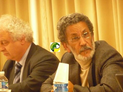 Le Pr Abdel Weddoud Ould Cheikh et le Pr Denis Retaillé lors d'une soutenance de thèse de doctorat d'un chercheur mauritanien à Rouen en décembre 2011. DR Abdoulaye DIAGANA/Kassataya