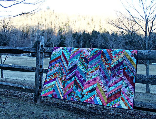 A Winter Herringbone Quilt