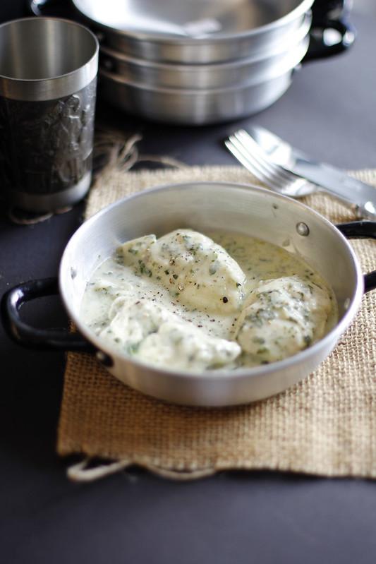 _MG_5571 Pescado relleno de espinacas en salsa de queso azul