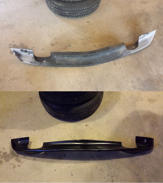 Front spoiler before and after