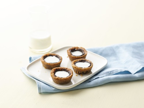 Milk Filled Chocolate Chip Cookie Cup
