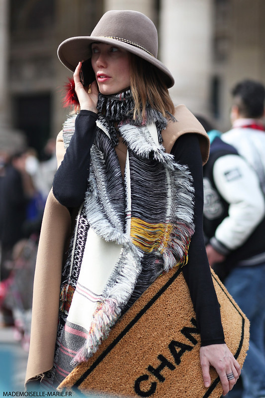 Anya Ziourova at Paris fashion week