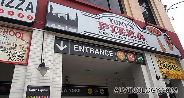 Tony's Pizza @ River Valley Road - Alvinology