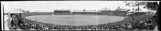 Panoramic view of first Test match, Sydney Cricket Ground, 18 December 1920, 4 / EB Studios