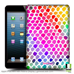 Head Case Designs Rainbow Snake Mad Prints Hard Back Case for Apple iPad Mini with Retina Display