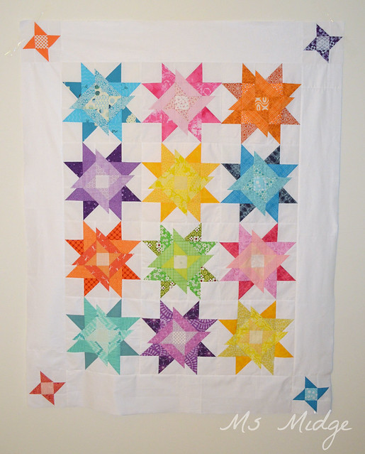 Radiating Sparkler Quilt Top