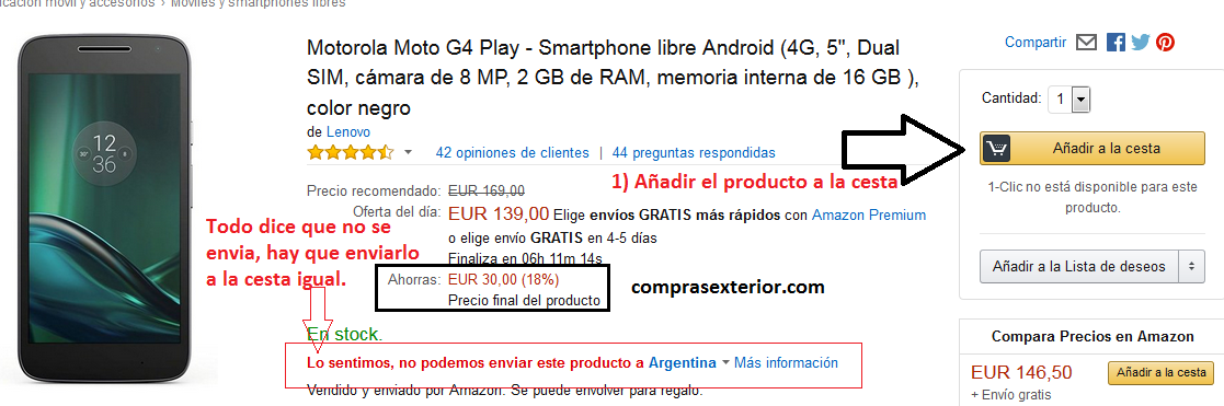 paso 1 para compras en amazon en el black friday