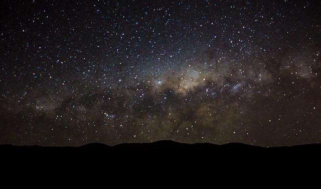 Via lactea, Cordillera deLos andes