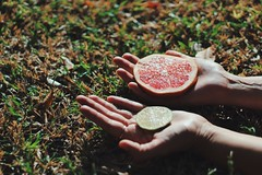 Person Fruit Food And Drink Holding One Person Rea…