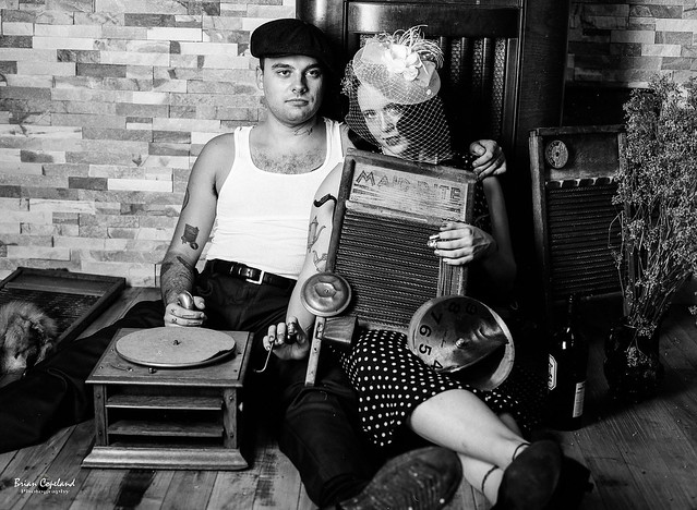Young love, a washboard and a gramaphone