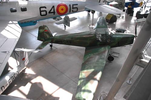 Bücker 181 Bestmann at the Deutsches Museum Flugwerft Schleißheim