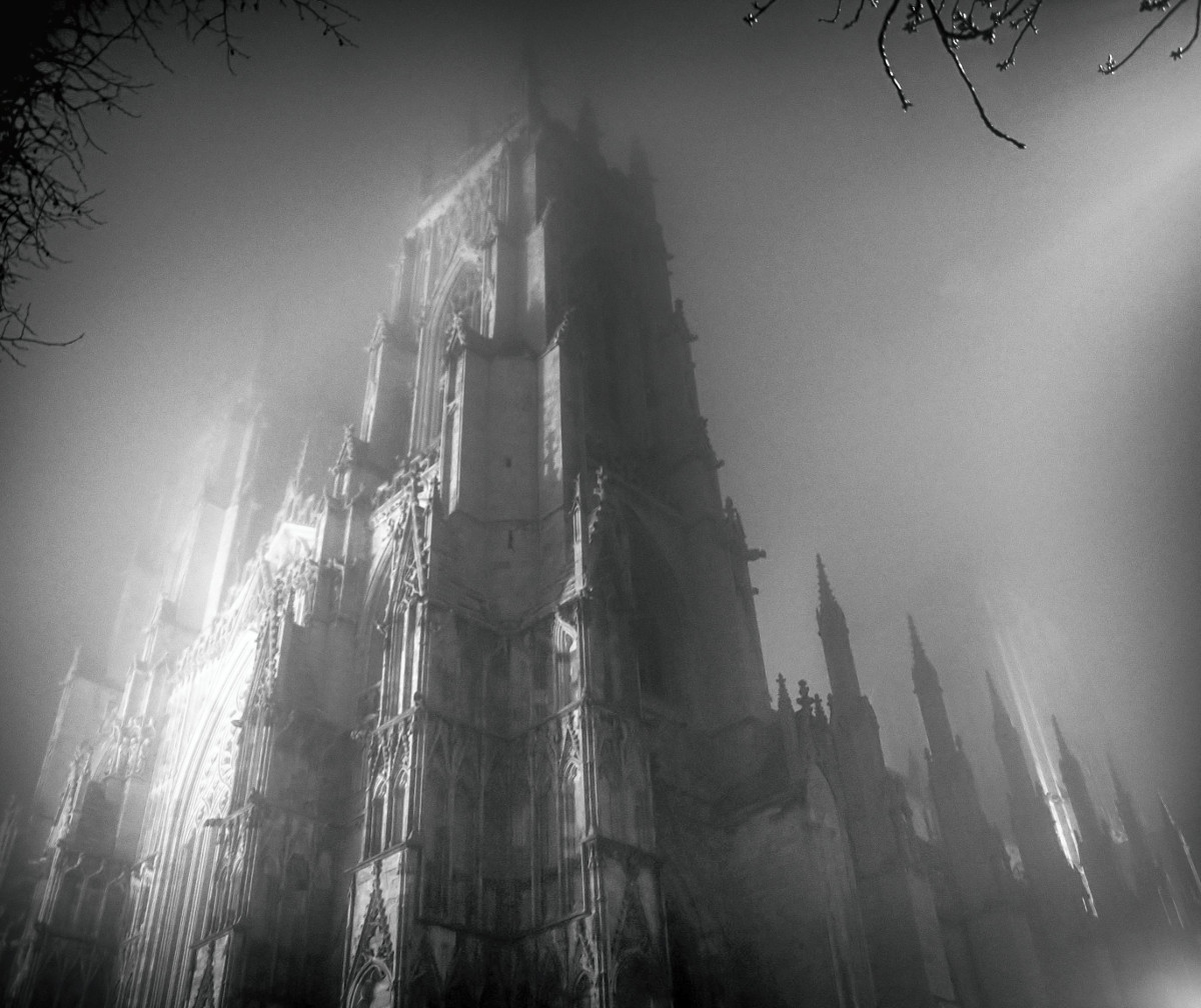 York Minster on a foggy night. Credit Karli Watson