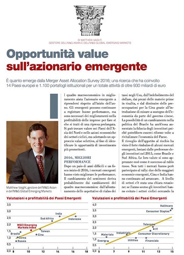 OPPORTUNITA VALUE SULL'AZIONARIO EMERGENTE di Matthew Vaight