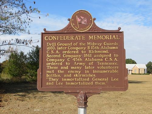 Confederate Memorial Marker Midway AL