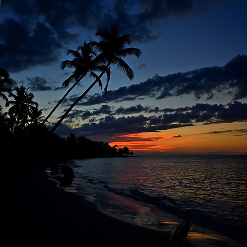 azul mar playa paisaje rd puesta·sol