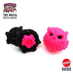 The word is out! Head over to Clutter or Man-E-Toys for the full lowdown on The Disarticulators' #madball of death...