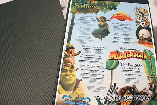Character-themed menu