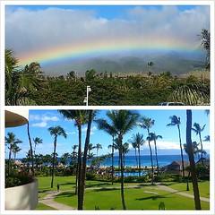 Its like Christmas in July. #blessed #rainbows #lanai #west #maui #aloha #landscape #nofilter #coreymountphotography #shoots #SheratonMaui #instalike #insatdaily #collage #picoftheday