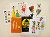 Set of 5 Minifanfan Illustration Postcard Set - Pick any 5 designs - 2013 Postcard Collection - Vertical Postcards