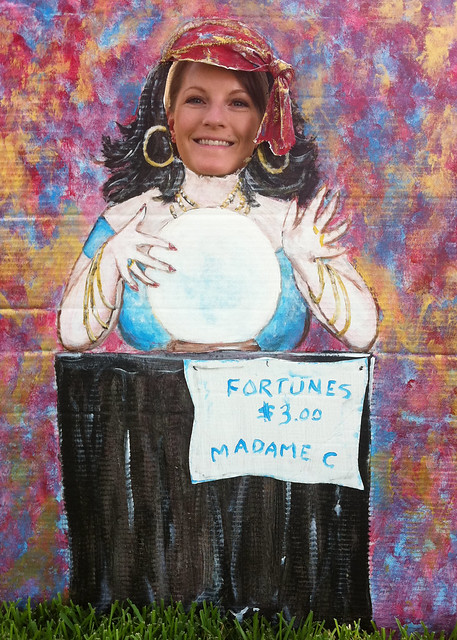 My Daughter, behind Fortune Teller Photo Face Cutout from Flickr via Wylio